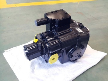 Hydraulic pump for concrete pump features