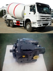Mixer truck hydraulic pump