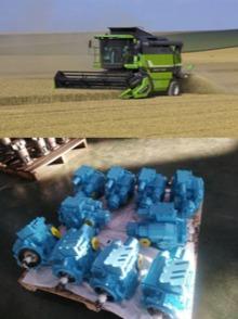 Combine harvester hydraulic pump